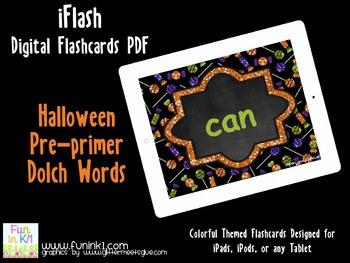 iFlash Halloween Pre-primer Dolch Digital Flashcards PDF