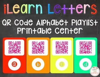 iLearn Letters: Alphabet Playlist Center/Interactive Bulle
