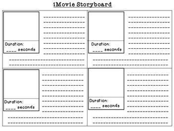 iMovie Story Board