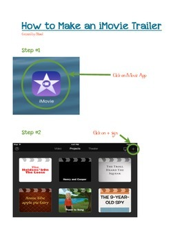 iMovie Trailer Directions