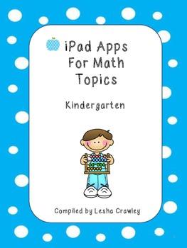 iPad Apps For Math Topics - Kindergarten