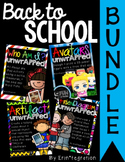iPad Back to School / Beginning of the Year Activity BUNDLE