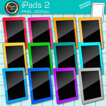 iPad Clip Art {Rainbow Tablet Devices for Technology Lesso