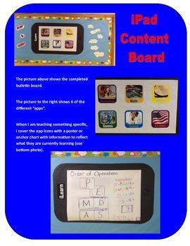 iPad Content Bulletin Board
