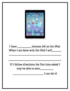 iPad Countdown Visual Transition Autism