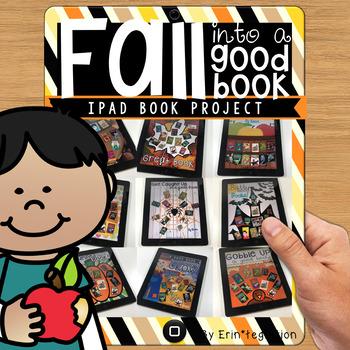 iPad Fall Reading Digital Poster Activity