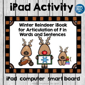 Winter Reindeer Activity For Articulation of F in Words an