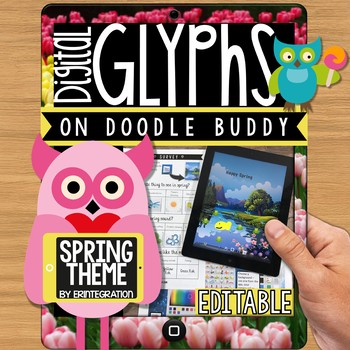 iPad Glyph Activity: Spring Theme