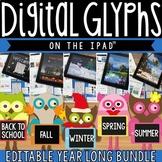 iPad Seasonal Glyph BUNDLE - 5 iPad activities