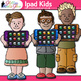 iPad Kids Clip Art {Great for Technology and Digital Citiz