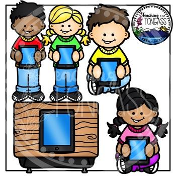 iPad Kids Clipart Bundle