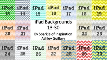 iPad Numbered Background Image Chevron 13-30