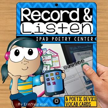 iPad Poetry Listening and Recording Center - Create audio