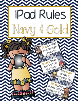 iPad Rules - Navy and Gold
