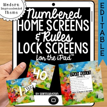 iPad Wallpaper Rules and Numbered Backgrounds: Impressioni
