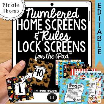 iPad Wallpaper with Editable Rules & Numbered Backgrounds: