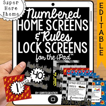 iPad Wallpaper Rules and Numbered Backgrounds:  Super Hero Theme