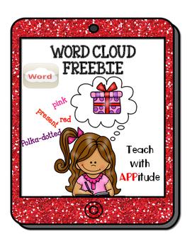 iPad Synonym Activity for Word Cloud App No Prep FREEBIE