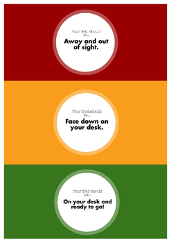 iPad Usage Signs for Students