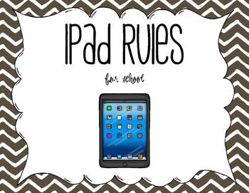 iPad Use Rules Bilingual (Spanish) Chevron