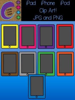 iPad iPhone iPod Clip Art Color Images Tablet