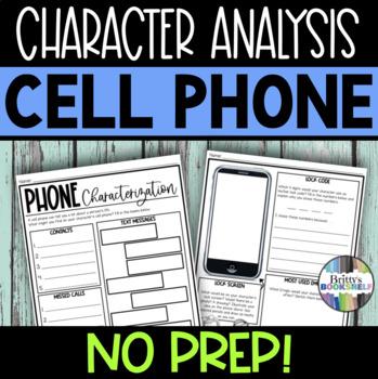 iPhone Characterization & Character Analysis Activity