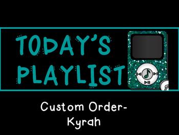 iPod Schedule (Custom- Kyrah)