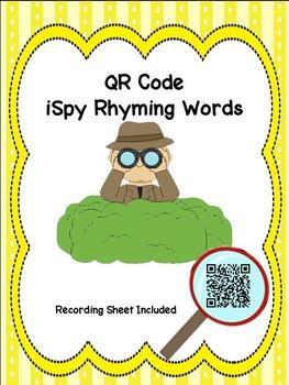 iSpy Rhyming Words QR Code Activity