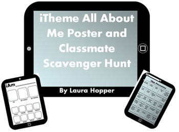 First Day iTheme All About Me Poster and iTheme Classmate