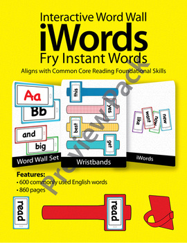 iWords - Fry Instant Words {High Frequency} [Preview] (Ali