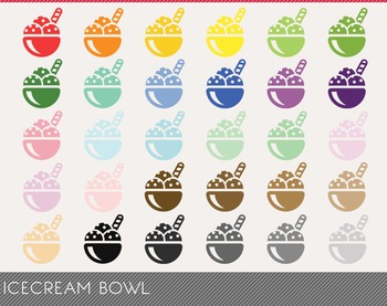 icecream bowl Digital Clipart, icecream bowl Graphics, ice