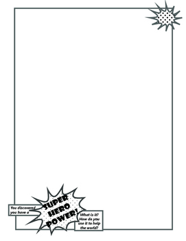 imagine! Coloring Page: Super Hero Power