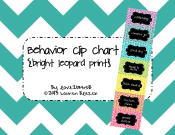 Behavior Clip Chart System {Bright Leopard Print}