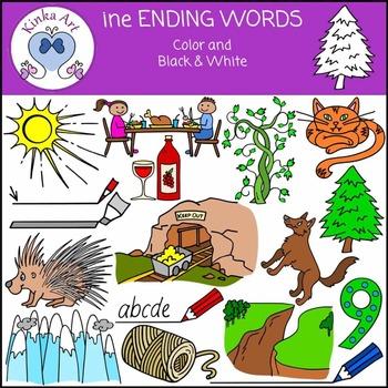 ine Ending Words Clip Art