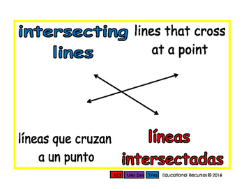 intersecting lines/lineas intersectadas geom 1-way blue/rojo