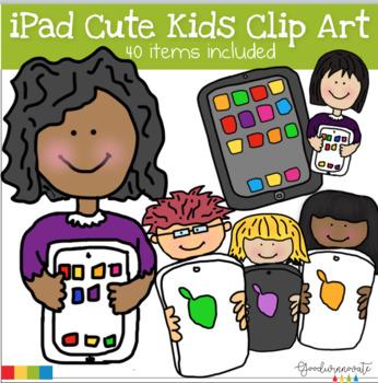 ipad Cute Kids clip art set