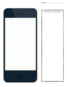 iphones:  Blank iphone screen printables for multiple activities!