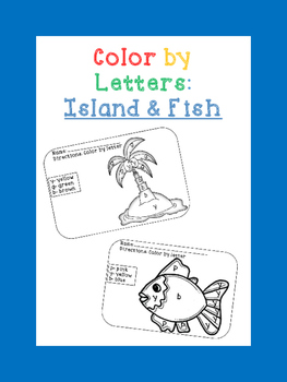island and fish color by letter