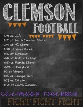it's football season: Go Clemson!