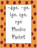 /j/ dge, ge, rge, lge, nge Phonics Packet