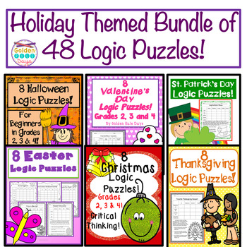 Holiday Bundle of Logic Puzzles! 48 Puzzles at 40% off!