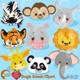 Jungle Clipart, Animal Clipart, Faces Clipart,  AMB-273