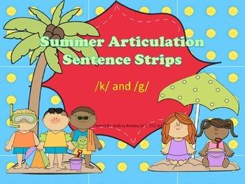 /k/ and /g/ Summer Artic/Language Sentences & Activities f