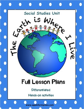Where I Live Social Studies Unit with Lesson Plans - K, 1s