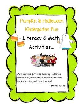 Kindergarten Halloween and Pumpkin Themed Fun