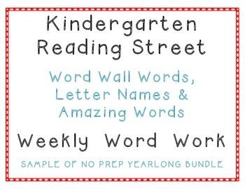 kindergarten Reading Street Unit 1, Sample Spelling Vocab