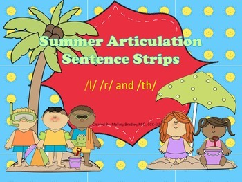 l, r, th Summer Artic/Language Sentences & Activities for