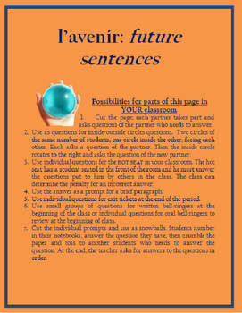 le futur sentences worksheet