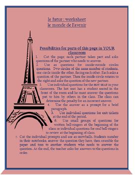 le futur et l'avenir FRENCH