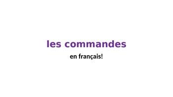 les commandes en francais